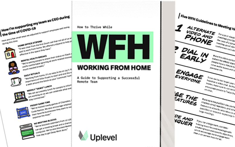 [E-book] How to Thrive While WFH: A Guide to Supporting a Successful Remote Team
